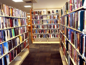 Hidden in the stacks. One of the most private places, where one can contemplate what one reads.